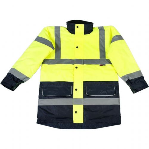 Warrior Denver Hi Vis Yellow 2 Tone Jacket